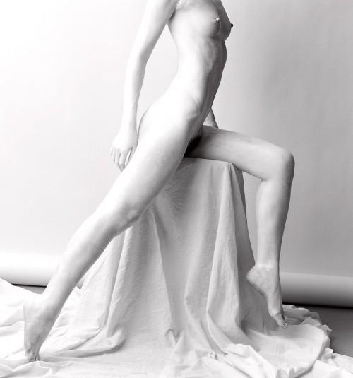 white nude study